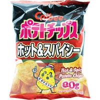 37028 CALBEE CHIPS (HOT & SPICY) 24X2.82OZ