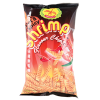 37101 DRAGONFLY SHRIMP CHIPS (HOT & SPICY) 12X7.3OZ