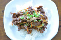 maeun bulgogi (spicy korean barbecue beef)