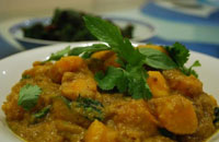 thai tofu pumpkin curry