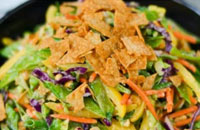 thai veggie slaw with peanut dressing